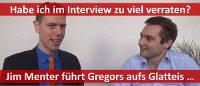 Jim Menter interviewt Gregor vom Aufsteiger-Training